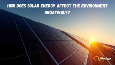 how does solar energy affect the environment negatively